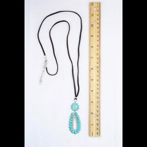 Lucky Brand Jewelry - Lucky Brand Faux Turquoise South Western Necklace